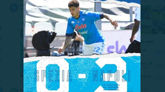 Hasil Babak Pertama Spezia vs Napoli 0-3, Napoli Hampir Pasti Naik Dua Pesar Geser Atalanta