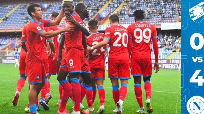 Hajar Sampdoria 4-0, Napoli Satu-satunya Tim Seri A yang Sukses Pertahankan Kemenangan 100 Persen