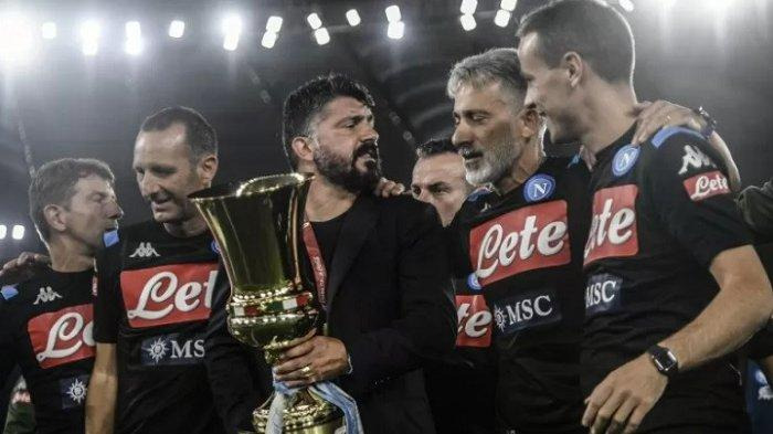 Kalahkan Juventus 4-2, Napoli Menangi Gelar Piala Italia untuk Keenam Kalinya