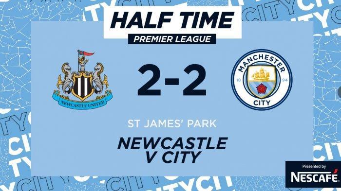 Hasil Babak Pertama Newcastle vs Manchester City 2-2, Gol Cancelo dan Torres Disamakan Gol Penalti