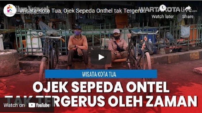 VIDEO Wisata Kota Tua Jakarta, Ojek Sepeda Onthel tak Tergerus oleh Zaman