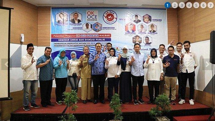 Dikukuhkan Indra Uno, OK OCE Kalbar Ditargetkan Ciptakan 100.000 Lapangan Kerja