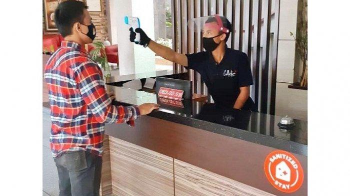 Oyo Hotels and Homes. Para mitra OYO di Indonesia yang telah mengikuti pelatihan dan menerapkan protokol kesehatan mendapatkan label dan logo 'Sanitized Stay' di aplikasi OYO.