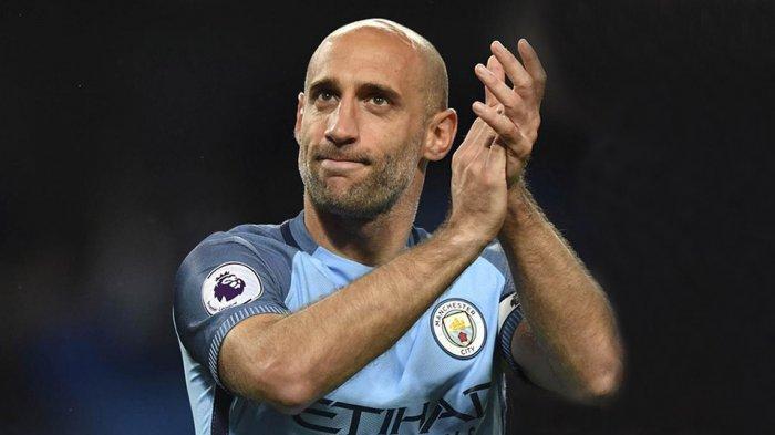 Pablo Zabaleta pernah 9 tahun membela Manchester City dari 2008-2017