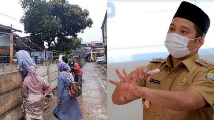 Wali Kota Tangerang Perintahkan Satpol PP Bongkar Pagar Tembok Beton yang Menutupi Akses Rumah Warga