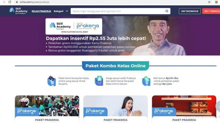 Harga Pelatihan Online Kartu PraKerja Rp 1 Juta, Dinilai Banyak Tersedia Gratis di Internet