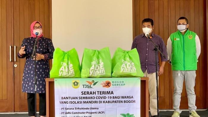 Tujuh Perusahaan di Kabupaten Bogor Bantu Pasien Isoman, Serahkan 2.500 Paket Sembako