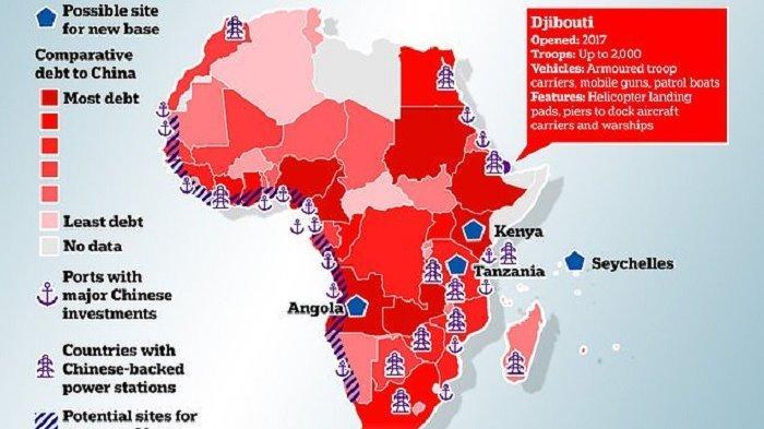 China membangun pangkalan militer di Djibouti, Afrika, dan sejumlah negara lain setelah menguasai infrastruktur dan ekonomi di banyak negara Afrika. Bagaimana dengan posisi China di Indonesia?
