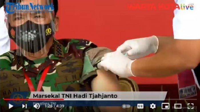 VIDEO Panglima TNI Marsekal Hadi Tjahjanto dan Kapolri Jenderal Idham Jalani Suntikan Vaksin Covid