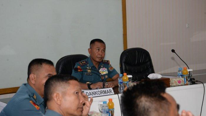 Dankormar Terima Paparan Latihan Pengamanan Obyek Vital Di Timika.