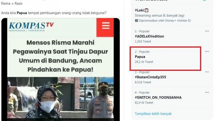 Papua Trending, Mensos Risma Dituding Rasis karena Sebut Papua Sebagai Tempat Pembuangan ASN