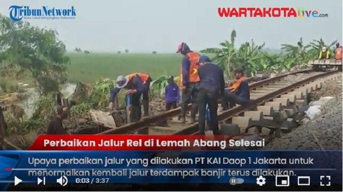 VIDEO Perbaikan Selesai, Selasa Sore Stasiun Gambir dan Pasar Senen Kembali Berangkatkan Kereta Api
