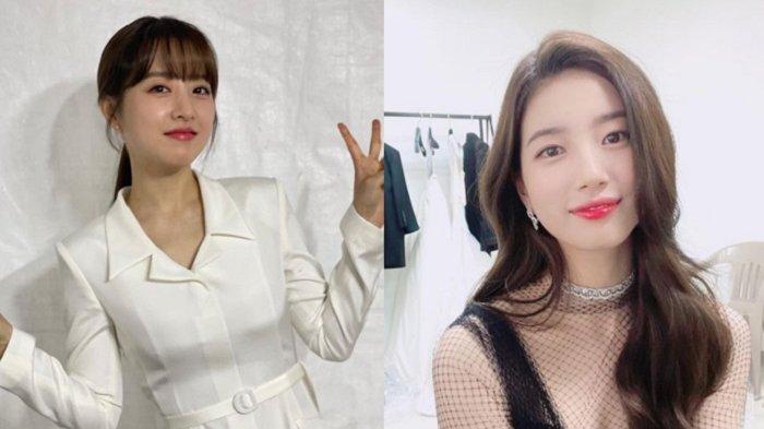 Tampilan Park Bo Young dan Suzy yang mengandalkan pulasan bibir yang mengilat.