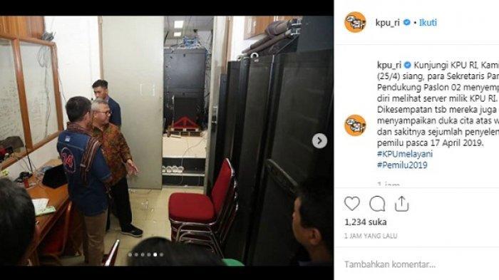 Ramai-Ramai, Partai Pendukung Paslon 02 Cek Server KPU RI, Begini Penampakannya