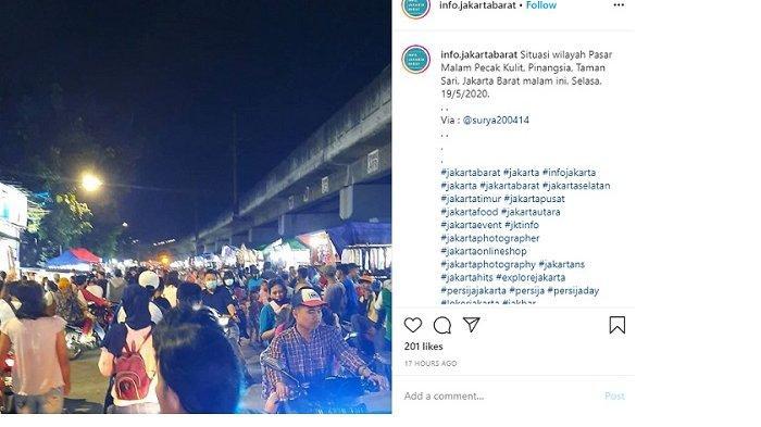 Pasar Malam Bermunculan di Jakarta Barat saat PSBB Diberlakukan, Ini Kata Kasatpol PP dan Wali Kota