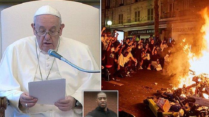 PAUS Fransiskus Akhirnya Komentari Kematian George Floyd di Tangan Polisi, Doakan Para Korban Rasis