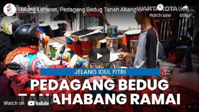 VIDEO Pedagang Bedug di Tanah Abang Mulai Ramai Menjelang Lebaran