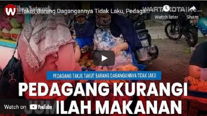 VIDEO Takut Barang Dagangannya Tidak Laku, Pedagang Kurangi Jumlah Makanan