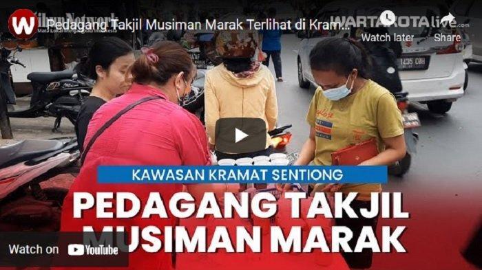 VIDEO Diperbolehkan Berjualan, Pedagang Takjil Musiman Marak Terlihat di Kramat Sentiong