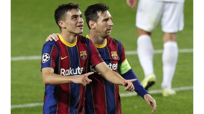 Pedri merasa senang bisa bermain bareng pemain idolanya Lionel Messi di Barcelona