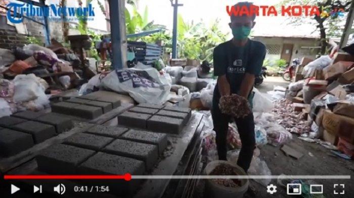VIDEO Sampah Plastik Didaur Ulang Jadi Paving Block di Pondok Pinang