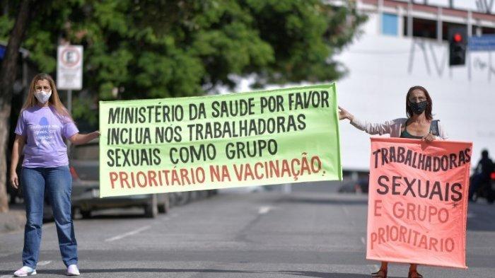 WANITA PSK Brasil Ramai-ramai Mogok dan Tuntut Pemberian Vaksin Covid19: Kami Penggerak Ekonomi