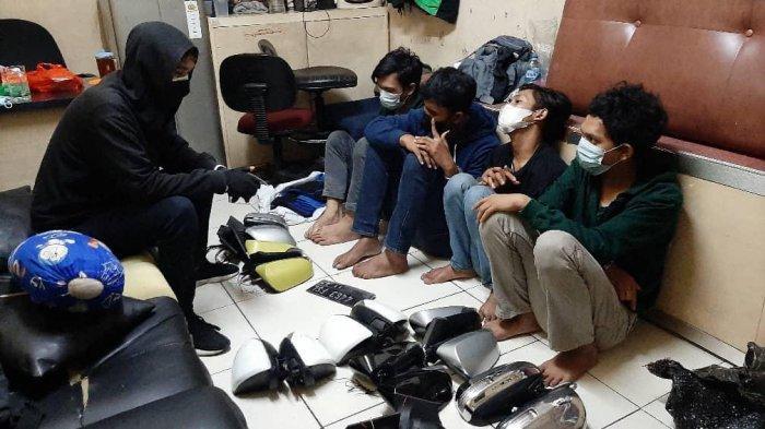 Empat Pelaku Pencuri Spion Mobil Ditangkap, Polsek Matraman Dalami Penadahnya
