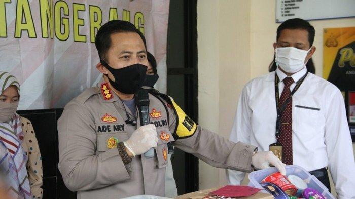 Kapolresta Tangerang Kombes Ade Ary Syam Indradi saat mengekspos kasus parsel di Mapolresta Tangerang, Senin (18/5/2020).