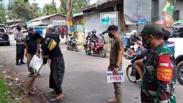 Gelar Patroli PPKM di Tamansari dan Ciomas, Aparat Gabungan Jaring 58 Pelanggar Prokes
