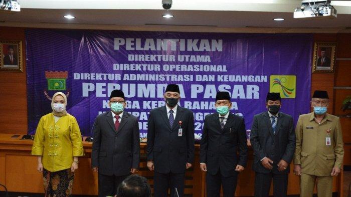 Lantik Direksi Perumda Pasar Niaga Kerta Raharja, Bupati Tangerang Zaki Berharap Ada Inovasi