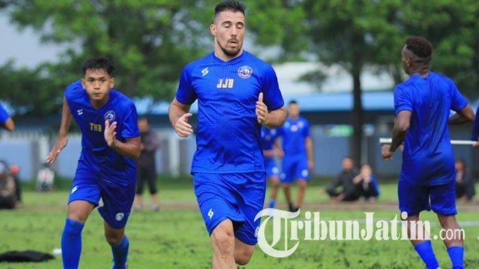 Diliburkan Gara-gara Ada Wabah Covid-19, Pemain Arema FC Wajib Setor Video Latihan di Rumah