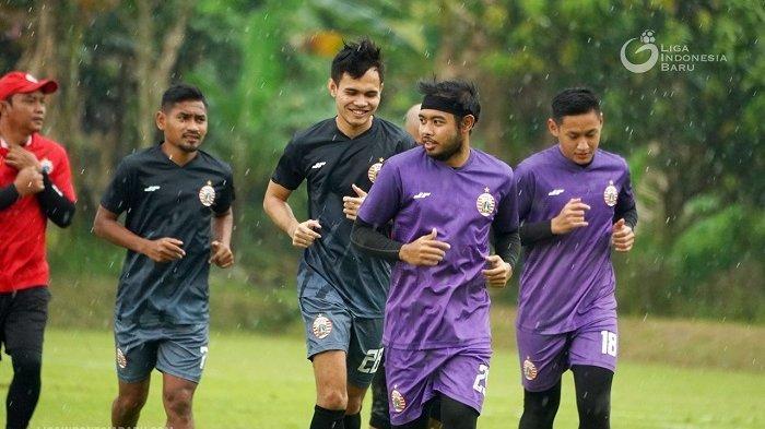 Ukur Kekuatan Fisik Jelang Liga 1 2021, Pemain Persija Lakukan Laga Uji Coba Melawan Tim Akademi