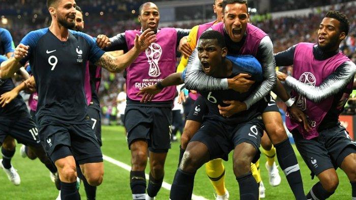 Hasil Final Piala Dunia 2018 : Prancis Juara, Kroasia Tak Sedih Berlebihan