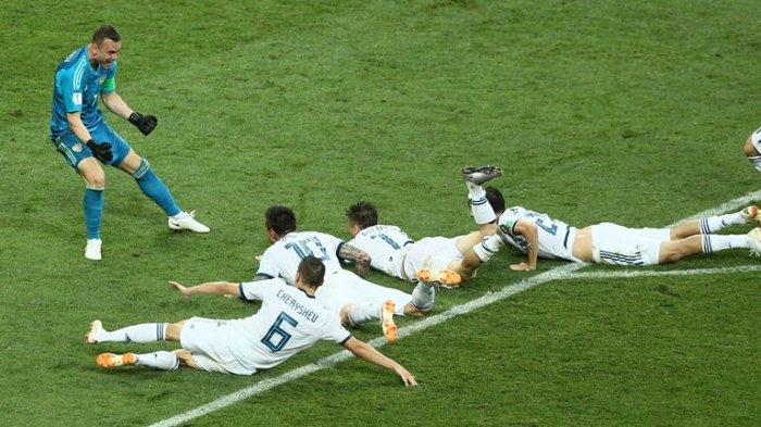 Rusia ke Perempat Final Usai Kalahkan Spanyol Melalui Adu Pinalti