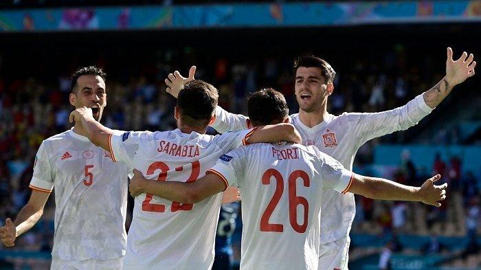 Spanyol Cetak Rekor Kemenangan Paling Telak di Piala Eropa 2020, Menang 5-0 Atas Slowakia
