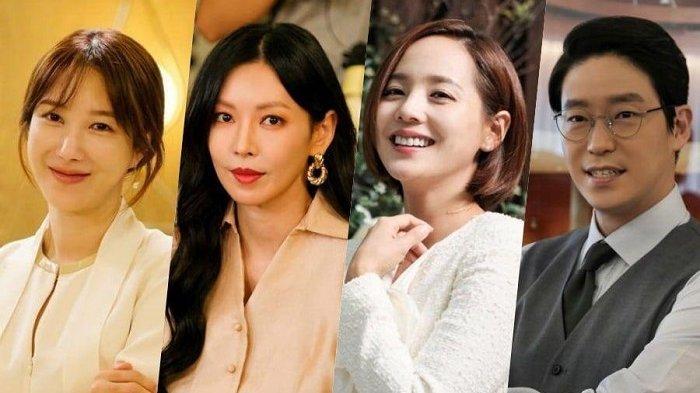 Para pemain drama Korea the Penthouse musim kedua yakni Lee Ji Ah, Kim So Yeon, Eugene, dan Uhm Ki Joon.