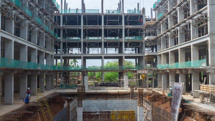 Pembangunan Apartemen Menara Swasana Tetap Jalan Ditengah Covid-19, Pekerja Dibagi 2 Shift