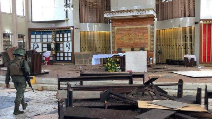 Pasangan Suami Istri Asal Indonesia Diduga Pelaku Bom Bunuh Diri di Gereja Katolik Filipina