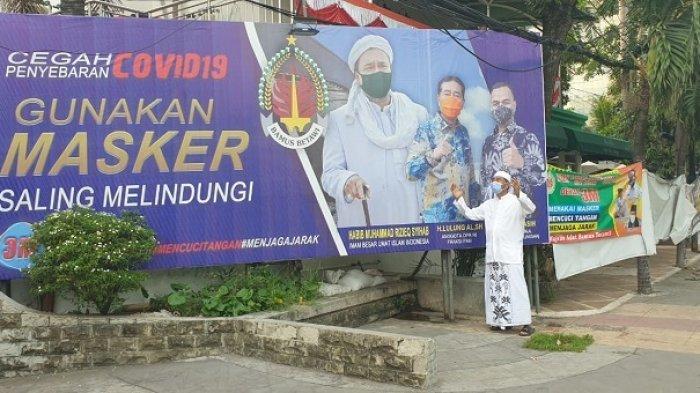 Baliho Habib Rizieq Berisi Imbauan Gunakan Masker Ternyata juga Dicopot TNI, Kenapa?