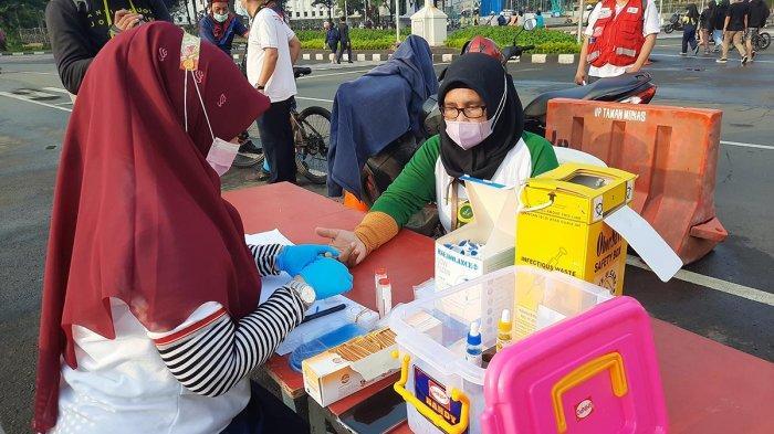 VIDEO : PMI DKI Jakarta Gelar Pemeriksaan Golongan Darah di Monas
