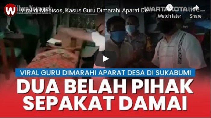 VIDEO Kasus Guru Dimarahi Aparat Desa Karena Unggah Kondisi Jalan Rusak Berakhir Damai