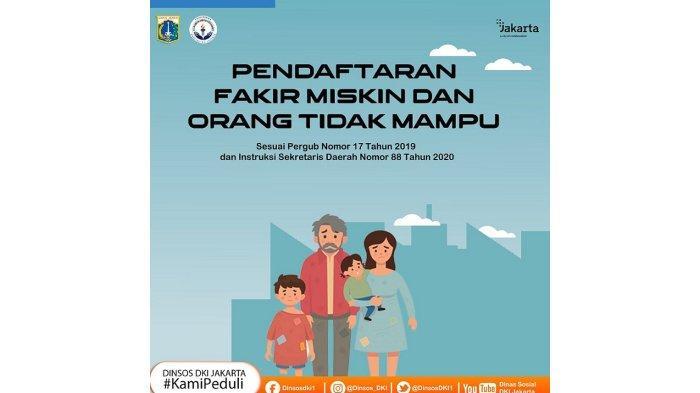 Dinsos DKI Jakarta Buka Pendaftaran Baru untuk Fakir Miskin dan Orang tidak Mampu, ini Linknya
