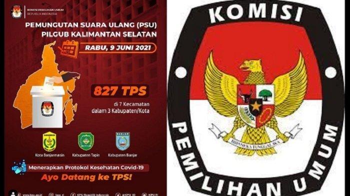 KPU RI: Pemungutan Suara Ulang Pilgub Kalimantan Selatan Digelar Rabu 9 Juni 2021
