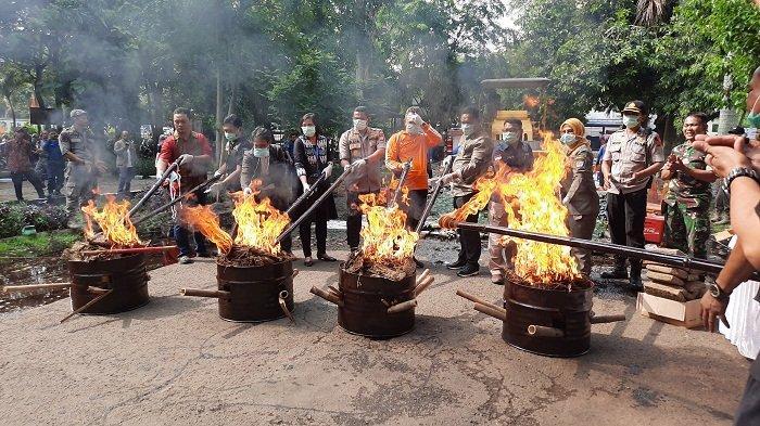 Barang Bukti Hasil Operasi Senilai Ratusan Juta Dimusnahkan di Depok, Berikut Rinciannya