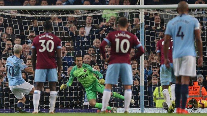 Man City Susah Payah Kalahkan West Ham 1-0, Aguero Kembali Jadi Topscorer