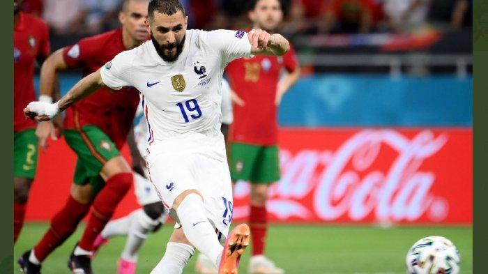 Penalti Ronaldo Dibalas Penalti Benzema dalam Laga Portugal vs Prancis, Babak Pertama 1-1