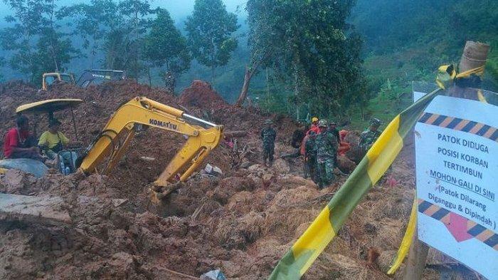 Pencarian Korban Longsor Cisolok Sukabumi Dihentikan, 1 Orang Hilang