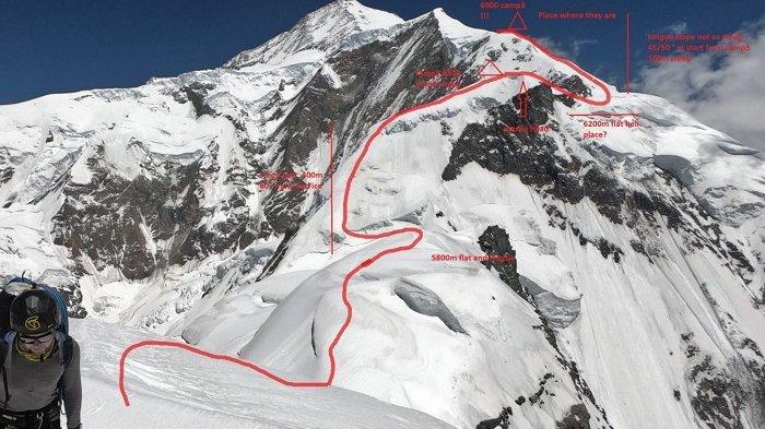 UPDATE SAR Gunung Rakaposhi, 3 Pendaki yang Terjebak di Ketinggian 6.900 Meter Mulai Bergerak Turun