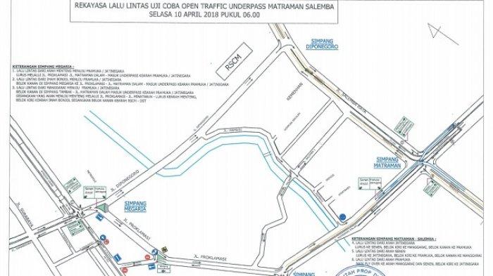 Simak Pengaturan Lalu Lintas saat Uji Coba Terowongan Matraman-Salemba