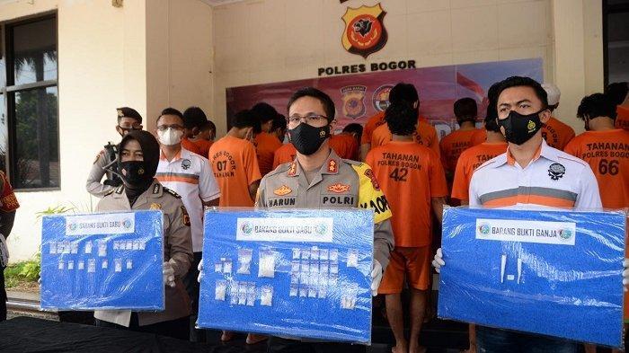 Polres Bogor Tangkap 23 Pengedar Narkoba, 2 Orang Residivis